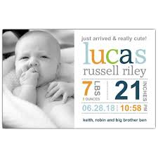 birth announcements modern banner info blue boy birth announcements paperstyle baby