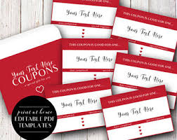 coupons template etsy