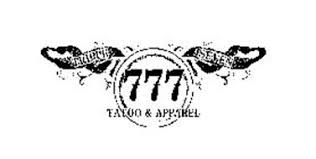 triple seven 777 tattoo u0026 apparel trademark of merritt charles