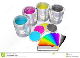 Pantone Color Pallete Cans With Color Paint And Pantone Color Palette Guide Stock