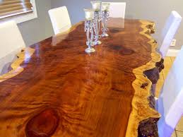 hand crafted live edge redwood kitchen table by ozma design