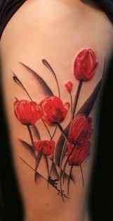 Tropical Themed Tattoos - 65 beautiful flower tattoo designs art and design
