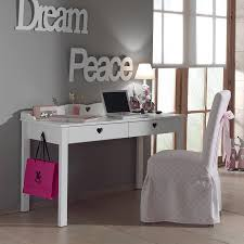 bureau blanc fille bureau fille blanc contemporain 2 tiroirs stella hcommehome