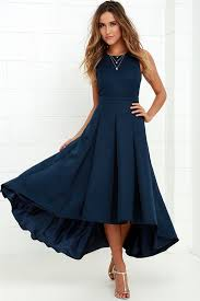 paso doble take navy blue high low dress high low navy blue and