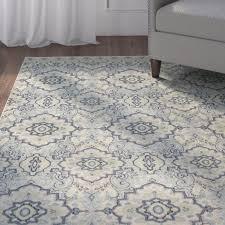 charlton home montville santa ana blue cream area rug u0026 reviews