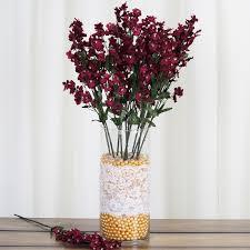 36 bushes baby breath silk filler flowers for wedding centerpieces