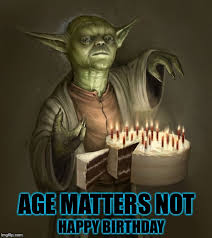 Star Wars Happy Birthday Meme - image tagged in birthday yoda yoda star wars star wars yoda birthday