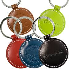 cool key rings images Limelight round leather key chain jpg
