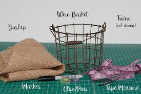 burlap basket liner tutorial peek a boo pages sew something
