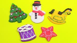 diy tree snowman santa claus and more playdoh