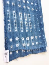 indigo mud cloth vintage african shibori fabric distressed