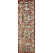 Floral Runner Rug Unique Loom Arcadia Terracotta Brown Floral Runner Rug 2 X 6