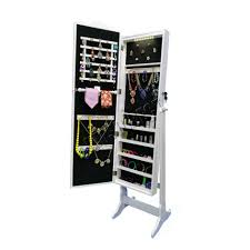 Jewellery Organiser Cabinet Foxhunter Armoire Jewellery Cabinet Makeup Storage Lockable