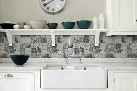 patchwork backsplash for country style trends including tiles