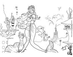 merliah calissa heroins oceana barbie coloring pages