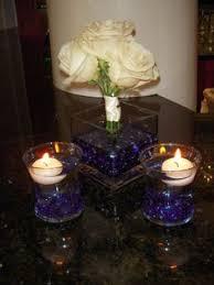 dollartree centerpieces wedding blue diy ivory navy reception