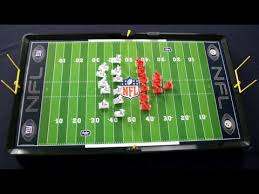 electronic table football game nfl electric football from tudor games youtube