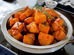 garlic thyme roasted sweet potatoes you might never eat a