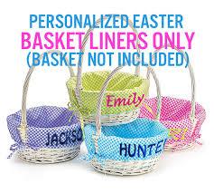 wicker easter baskets easter basket liner personalized easter baskets not included