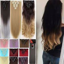 clip on hair extensions clip in human hair extensions ebay