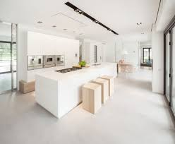 modern and transparent country home with a car gallery huizen modern country home kitchen2