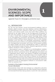 environmental sciences scope and importance pdf download available