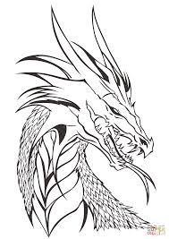 dragon head coloring free printable coloring pages