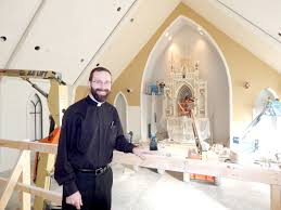 where do you put a st centerpiece of st gregory s new church put into place family