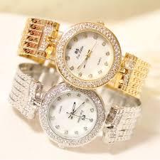 quartz diamond bracelet images New fashion brand bs quartz watch gold bracelet bling diamond jpg