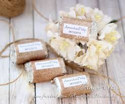 country wedding favors burlap wedding favors mini hershey wrapper custom diy country