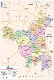 Maps Com Haryana Travel Map Haryana State Map With Districts Cities