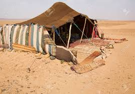 desert tent the bedouins tent in the morocco stock photo picture and