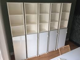 billy bookcase with doors white 5x ikea billy bookcase with morlinden door rrp 45 white 202 x