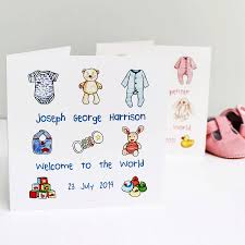 baby card personalised new baby card by martha brook notonthehighstreet