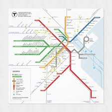 Boston Ferry Map by Sehyr Mbta Redesign