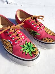 shoes vans pineapple tropical pink wheretoget