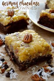 ultra fudgy german chocolate brownies the domestic rebel