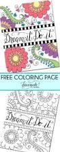 free coloring page dream it do it dawn nicole designs