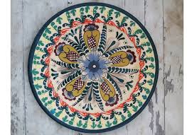 buy medium size wall plates mexican design plates office