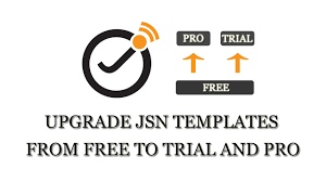 how to upgrade joomlashine templates from free to trial and pro