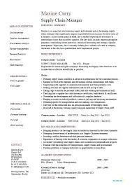 Executive Resume Template Doc Supply Chain Manager Resume Sample Supply Chain Management Resume