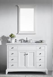 Solid Wood Bathroom Cabinet Eviva Evvn709 48wh Elite Stamford 48 Inch White Solid Wood