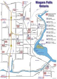 Niagara Falls Canada Map by Niagara Map Of Parks U0026 Diamonds
