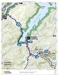 Adirondack Mountains Map Cat Mountain Tupper Lake Adirondacks