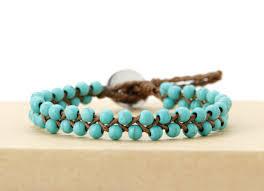 cord bracelet with beads images Boho bracelets handmade stones wax cord wrap bracelet beads string jpg