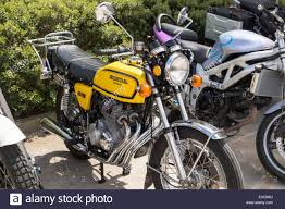 honda cb400 motorbike motor cycle bike classic honda cb400 four stock photo