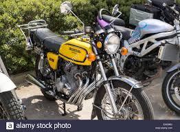 honda cb400 motorbike motor cycle bike classic honda cb400 four stock photo