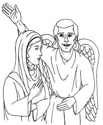 angel appears to mary and speak to her coloring pages bulk color