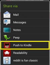 is kindle android how to send articles from your android phone to your kindle