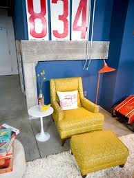 Yellow Arm Chair Design Ideas Furniture Leather Yellow Ottoman Be Equipped With Leather
